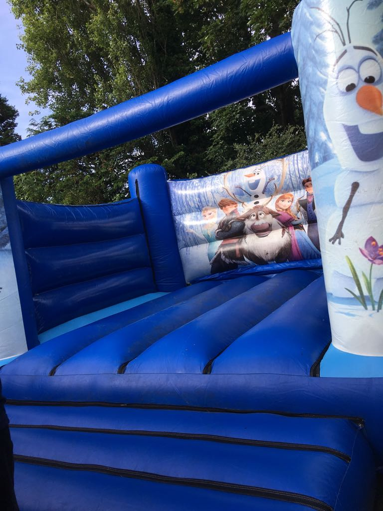 Frozen Inflatable castle hire in southport